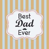 Carte heureuse du jour de père Images stock