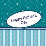 Carte heureuse du jour de père Photographie stock