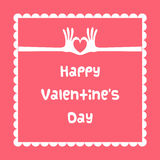 Carte heureuse du jour de valentine Photo stock