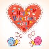 Carte heureuse du jour de valentine Photographie stock