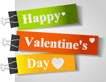 Carte heureuse du jour de valentine Images libres de droits