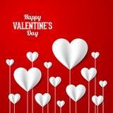 Carte heureuse du jour de valentine Photo libre de droits