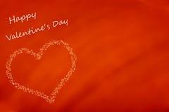 Carte heureuse du jour de valentine Photos libres de droits