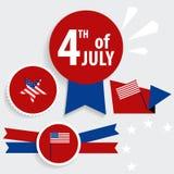 Carte heureuse Etats-Unis d'Amérique de Jour de la Déclaration d'Indépendance F américain Photographie stock