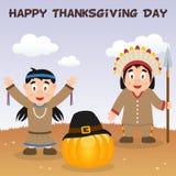 Carte heureuse indigène de jour de thanksgiving Image libre de droits