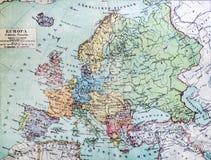 Carte historique de la vieille Europe Photo stock