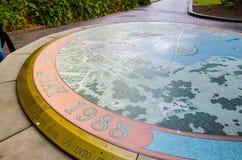 Carte historique de Sydney Cove sur la pierre de cercle chez Quay circulaire images libres de droits