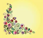 Carte hollyday colorée de fleur Photos libres de droits