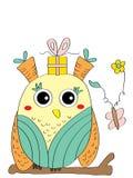 Carte impaire de hibou Image libre de droits
