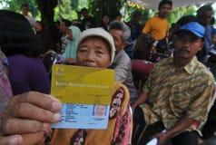 Carte indonésienne de protection sociale photos stock