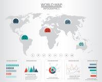 Carte Infographics du monde Photos stock
