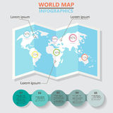 Carte Infographics du monde Photographie stock libre de droits