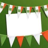 Carte irlandaise de réception illustration stock