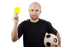 Carte jaune Photo libre de droits
