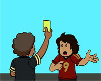 Carte jaune ! Images libres de droits