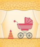 Carte jaune de bébé Photo stock
