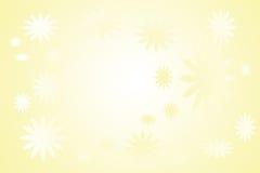 Carte jaune prête avec des fleurs illustration de vecteur