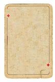 Carte jouante grunge antique de fond de diamants image libre de droits