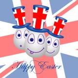 Carte Joyeuses Pâques pour la Grande-Bretagne 1 Photos libres de droits