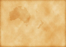 carte la vieille zélande neuve de l'australie Images stock