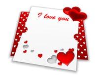 Carte large de valentine Image libre de droits