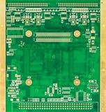 Carte électronique vide de vert (carte PCB) Image stock