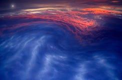 Carte-Lio de Nuages-Meteo Photos libres de droits