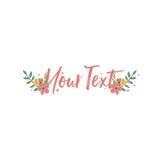 Carte Logo Template d'invitation de fête d'anniversaire Conception florale colorée de vecteur d'illustration Photos libres de droits
