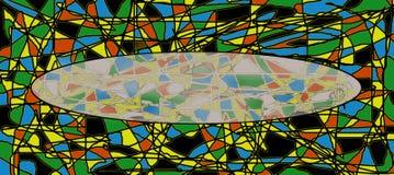 Carte lumineuse avec l'endroit pour l'inscription Image libre de droits