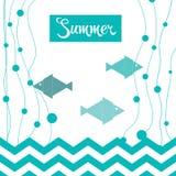 Carte luminose di vacanze estive Fotografia Stock Libera da Diritti