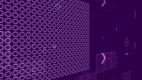 Carte mère avec Chip Grids sur Violet Backdrop Photographie stock