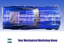 Carte mécanique d'atelier Photo stock