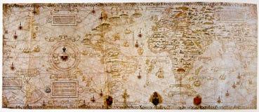 Carte médiévale du monde image libre de droits