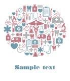 Carte médicale Image libre de droits