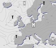 Carte météorologique illustration stock