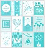 Carte mensuelle de bébé d'étape importante Photo stock