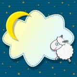 Carte mignonne avec des moutons Photos libres de droits