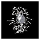 Carte mignonne avec le lapin Photo stock