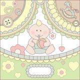 Carte mignonne de bébé Photographie stock libre de droits