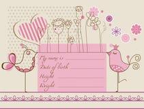 Carte mignonne de bébé Images stock