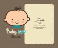 Carte mignonne de douche de bébé Photos libres de droits