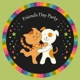 Carte mignonne de jour d'amitié illustration de vecteur
