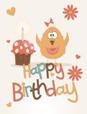 Carte mignonne de joyeux anniversaire. Photo stock