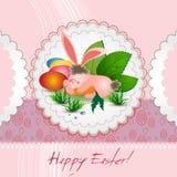 Carte mignonne de lapin de Pâques Image stock