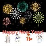 Carte mignonne de nouvelle année, bannière Image stock