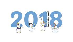 Carte mignonne de nouvelle année, bannière Photos libres de droits
