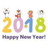 Carte mignonne de nouvelle année, bannière Photographie stock libre de droits