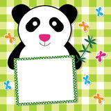 Carte mignonne de panda Images stock