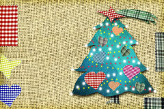 Carte mignonne de sapin de Noël Image stock