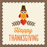 Carte mignonne de thanksgiving Photos stock